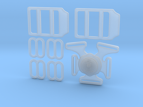 1.4 SET JET BELTS in Smooth Fine Detail Plastic