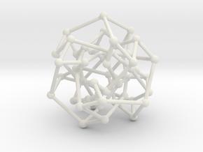 Cubic Klein graph in White Natural Versatile Plastic: Medium