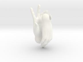 Human female hands for 'Storybook' BJD female in White Processed Versatile Plastic