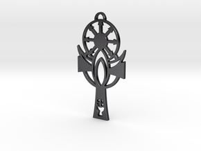 Cross of the Demiurge in Polished and Bronzed Black Steel