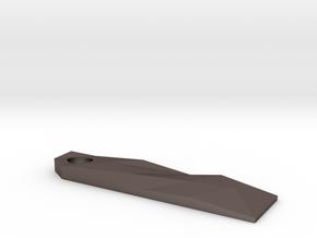 Fractal Keychain Prybar in Polished Bronzed-Silver Steel