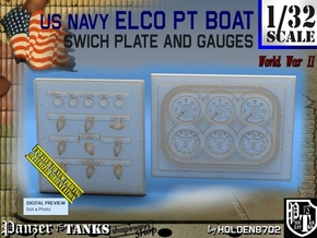 1/32 PT Boat Swich Plate and Gauges in Smoothest Fine Detail Plastic