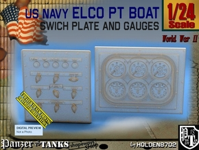 1/24 PT Boat Swich Plate and Gauges in Smoothest Fine Detail Plastic
