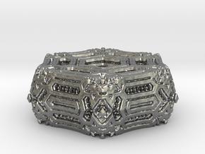 Alien Ornament.02 in Natural Silver