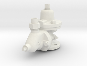 3.75 Scale K-1 Triple Valve  in White Natural Versatile Plastic