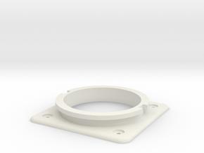 Bodenplatte + Ring verbunden 1.0 in White Natural Versatile Plastic