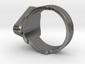 Doctor Evil Ring v2 size 12, 21.4 mm in Polished Nickel Steel