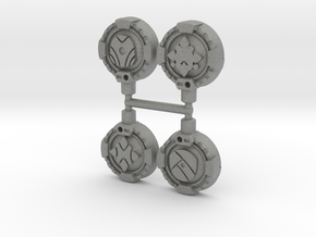 Guiding Hand Cyber Keys, Set of 4 in Gray PA12: Medium