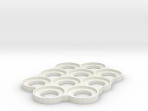 32mm Skeletonized Tray in White Natural Versatile Plastic