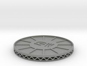 coaster shapeways SW in Gray Professional Plastic