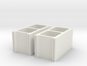 cinder blocks 1/8 pr in White Natural Versatile Plastic