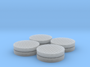 Heavy Manhole Cover Set 1/32 scale in Smooth Fine Detail Plastic