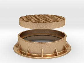 Heavy Manhole Cover and Flange 1/32 scale in Natural Bronze