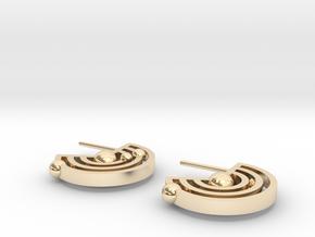 Orbital Ear-rings in 14K Yellow Gold