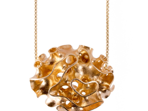 Porifera - Oscula Necklace in Natural Brass