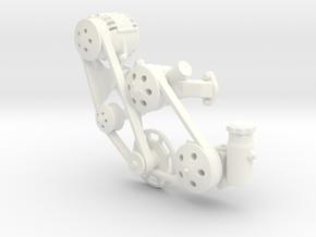 Brodix BBC 1/12 serpentine in White Processed Versatile Plastic