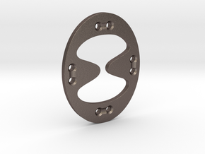 Tentatek Strap Holder Button Thing in Polished Bronzed-Silver Steel