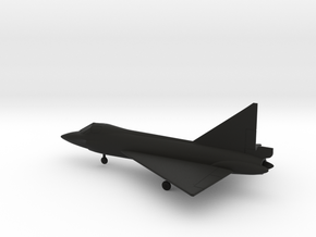 Convair TF-102 Delta Dagger in Black Natural Versatile Plastic: 1:200