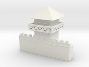 hadrian's wall Watchtower 1/160 in White Natural Versatile Plastic