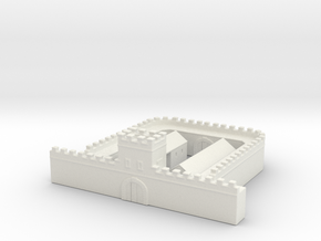 hadrian's wall   Milecastle  long 1/350  in White Natural Versatile Plastic