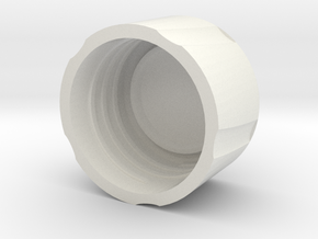 120 Film Case Cap in White Natural Versatile Plastic