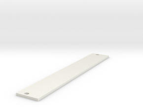 Eurorack Blank Panel 4HP in White Natural Versatile Plastic