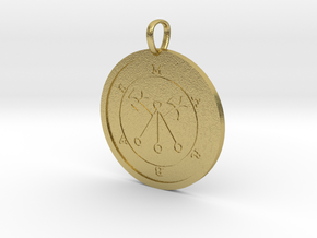 Marbas Medallion in Natural Brass