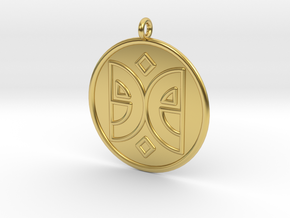 Arts Symbol in Polished Brass