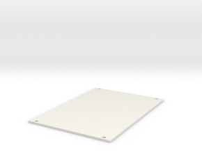 Eurorack Blank Panel 18HP in White Natural Versatile Plastic