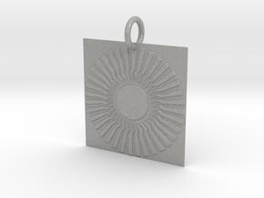 Sambhala Sun Pendant in Aluminum: Small