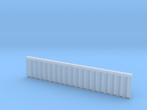 N Scale Sheet Piling Quay Wall H28 L142.5 in Smooth Fine Detail Plastic
