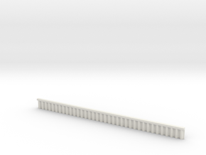 1:285 Quay Wall Sheet Piling H10mm in White Natural Versatile Plastic