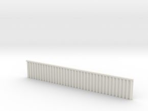 1:285 Quay Wall Sheet Piling H25mm in White Natural Versatile Plastic