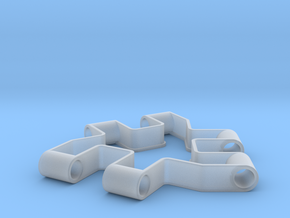 Material test part 1/2, Modular building block in Smooth Fine Detail Plastic