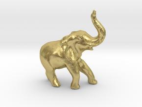 GlobalElephantProject in Natural Brass