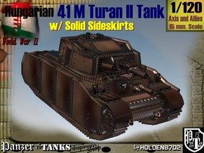 1/120 Hungarian 41M Turan II Solid Sideskirts in White Natural Versatile Plastic