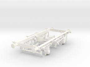 1/32 16t mineral wagon vacuum braked chassis in White Processed Versatile Plastic