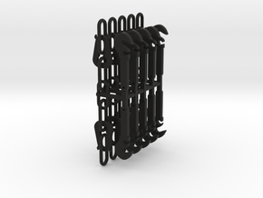 1/32 Instanter coupling and hook x5 pairs in Black Natural Versatile Plastic