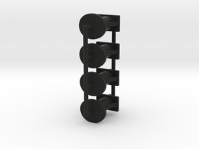 7mm TCA tank buffer set in Black Natural Versatile Plastic