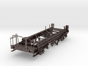 7mm Ferry tank wagon chassis in Polished Bronzed Silver Steel