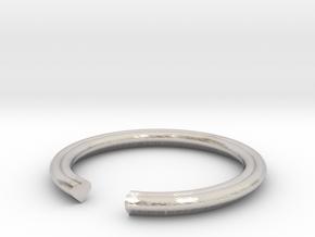 Heart 13.21mm in Rhodium Plated Brass
