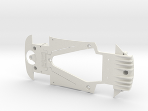 PSSX00102 Chassis for Scalextric AM GT3 (NSR) in White Natural Versatile Plastic