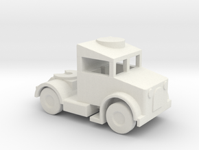 1/144 Scale Bedford Tractor in White Natural Versatile Plastic