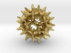 Virus I 16mm in Natural Brass
