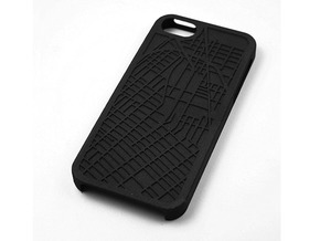 Downtown Brooklyn/ DUMBO Map iPhone 5/5s Case in Black Natural Versatile Plastic