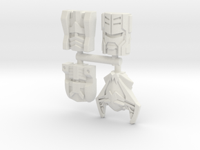 Many Faces of Sideways 4-Pack in White Natural Versatile Plastic