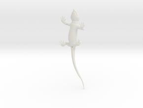 Lizard_3D_hollow in White Natural Versatile Plastic