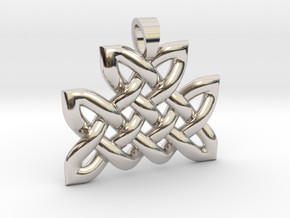 Celtic knot mountain [pendant] in Rhodium Plated Brass