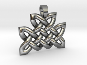Celtic knot mountain [pendant] in Polished Silver