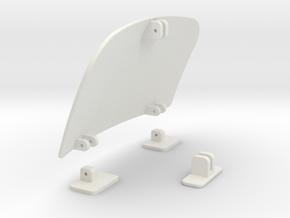 Air-dam-assy-44mm in White Natural Versatile Plastic